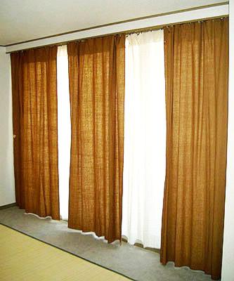 自然栽培綿カーテン