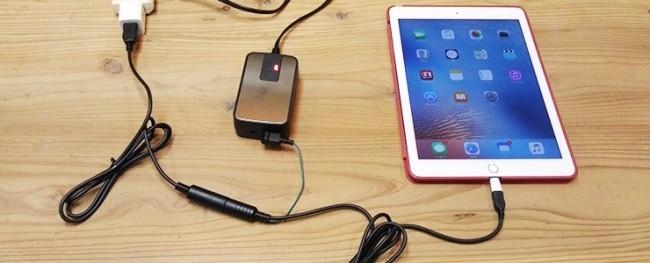 プラグインアース用充電兼接続ケーブル