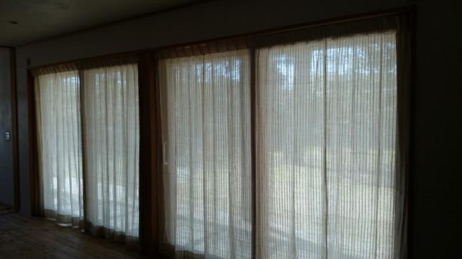 自然栽培綿カーテン レースタイプ
