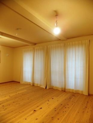 自然栽培綿カーテン 設置例