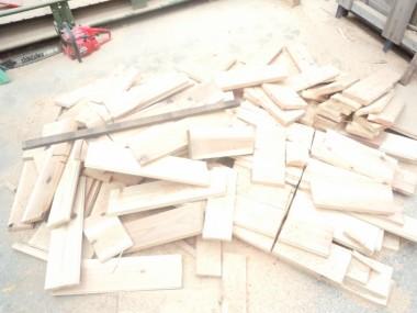 ペレット製造工程 乾燥(木端写真)