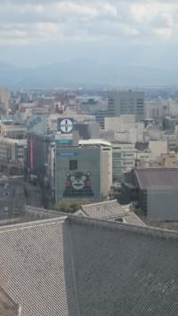 熊本城天守閣よりの眺め