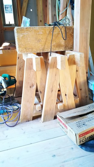 無垢材の作業台