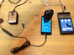 プラグインアース用充電兼接続ケーブル android 接続前