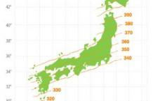 地磁気鉛直分力分布図